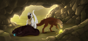 Excavating | Cavern Troubles by Daivien