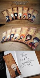 Harry Potter Bookmark Set by MadModesty
