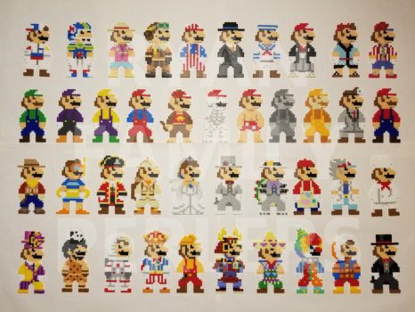 Super Mario Odyssey 8-bit Mario Perlers (ALL) by jrfromdallas