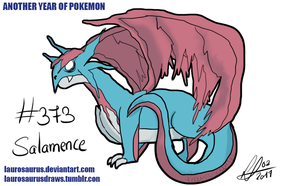 Another year of pokemon: #373 Salamence by Laurosaurus