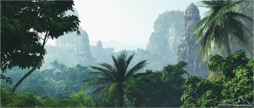 Tropical Scenery prt. 4 - Mystical Forest by 3DLandscapeArtist