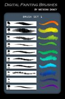 Digital Painting Brush Set 1 by Natashane