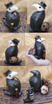 Plague Raven Figurine by Meiseki