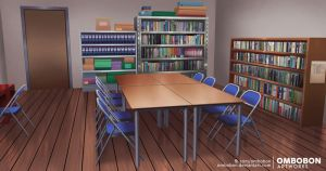 Anime VN Background - Club Room by ombobon