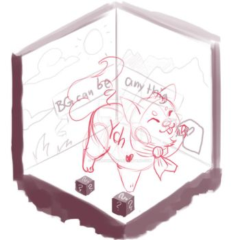 YCH chibi withing box environment by Thalliumfire