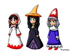 Final Fantasy Mages Crossover by ninpeachlover