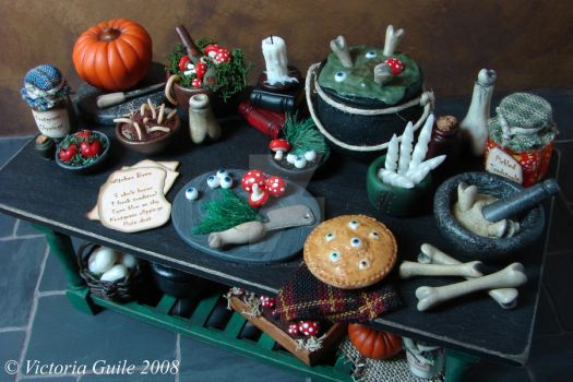 Witch's Preperation Table 2 by NJD-Miniatures