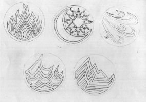 The Crests of the Elementals by Archangel-Dave