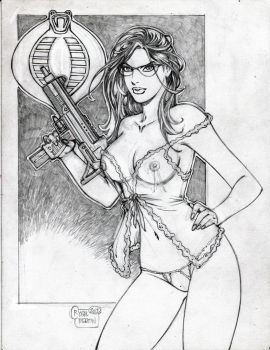 The Baroness (#14A) -NUDE- (PENCIL) by R. Martin by VMIFerrari