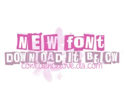 Font 01 by confidencelove