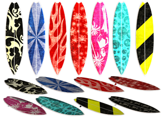Surfboard PNG Stock by Roy3D
