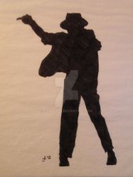 Michael Jackson Silhouette 02 by icemyeyes