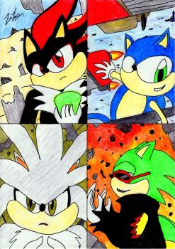 Four Hedgehog by lordtrigonstar