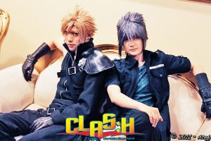 FF Boys : Cloud and Noctis by pinkyluxun