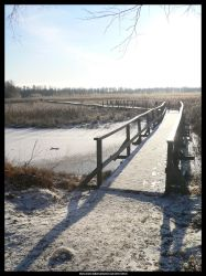 Frosty winter bridge by Solkatt