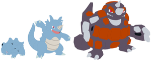 Rhyhorn, Rhydon and Rhyperior Base
