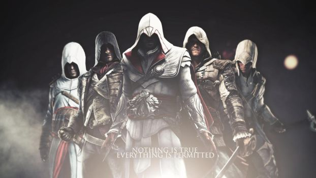 All Assassins Wallpaper (Alternate Version) by mastersebiX
