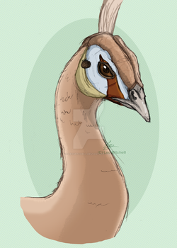 Peach Spalding Peahen {Speed-Paint} by LeoMitchell