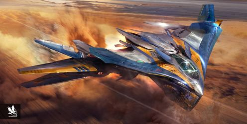 Guardians of the Galaxy- Milano in Flight by atomhawk