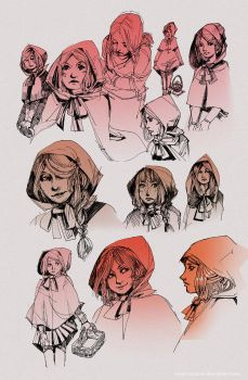 Little Red sketch dump by Ninjin-nezumi
