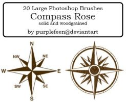 20 Compass Rose brushes by purplefeen by purplefeen