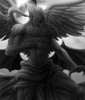 Kefka original black and white by MCAshe