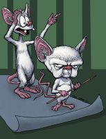 Pinky and the Brain by craigcermak