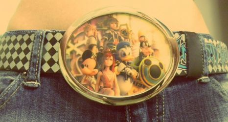 Kingdom Hearts II belt buckle by Lain3y