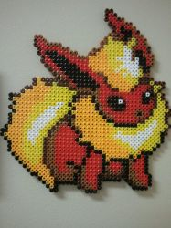 Flareon Bead Sprite by moonOgirl
