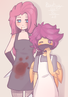 Pinkamena and Scootaloo by beatrice66