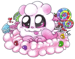 Chibi Pokemon - Swirlix by TaylorTrap622