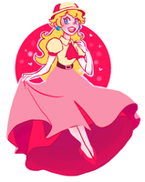 Princess Peach for huevember by kemiobsesses