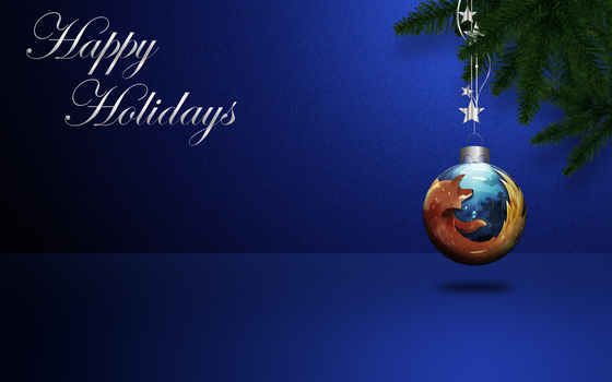 Firefox Christmas Ornament Wallpaper by KenSaunders