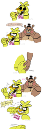 Chica meets her opponent by Simina-Cindy