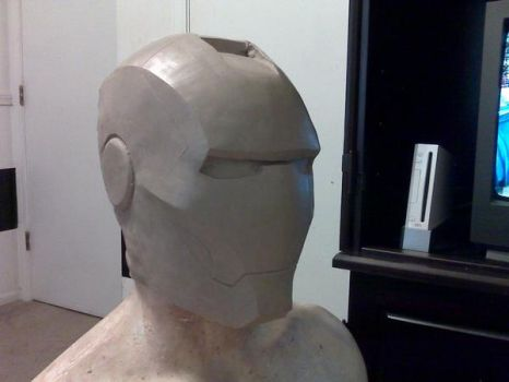 Iron man helmet sculpt 2 by dragostat2