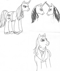 Prototype Charlemane sketches by VioletSquiggles