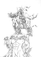 Batmen Pencils by sean-izaakse