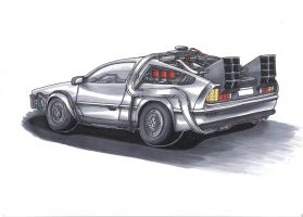 Delorean DMC-12 by mahha-gogogo