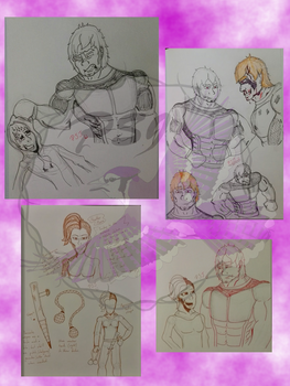 Dom and Heather sketch compilation by PurpleSallyJay