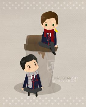 chibi glee: klaine's coffee by nantokaa