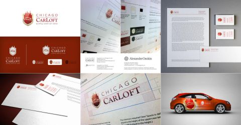 Chicago Car Loft corporate identity by Osokin