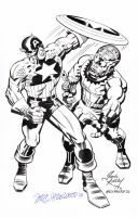 CAPTAIN AMERICA Pin-Up JACK KIRBY/HAZLEWOOD Sold by DRHazlewood