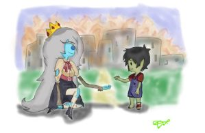 Little Marshall Lee and Simone Petrikov by DementedFool