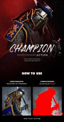 Champion Photoshop Action by hemalaya
