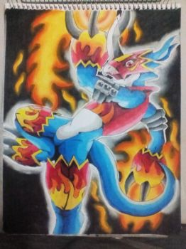 flamedramon/ digimon by Raziel993
