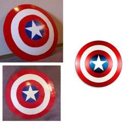 Captain America Shield prop by Zodiacx10
