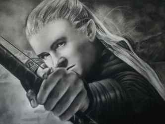 Legolas Speed Drawing by KirstyPartridgeART