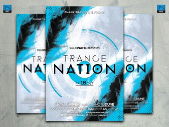 Trance Nation Flyer Template by ArtBeatDesigns