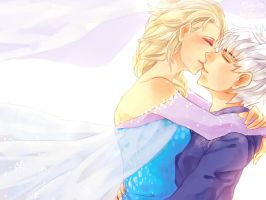 30 Day Challenge [Jelsa] Day 05 - Kissing by DiWine-Waro