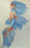 Betta fish mermaid by jenna-aw